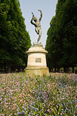 flower stock photography | France, Paris, Jardins des Luxembourg, Luxembourg Gardens, Statue of Pan, image id 6-450-6258
