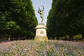flower stock photography | France, Paris, Jardins des Luxembourg, Luxembourg Gardens, Statue of Pan, image id 6-450-6263