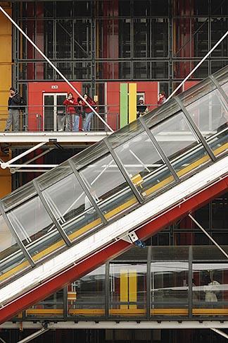 image 6-450-649 France, Paris, Pompidou Center, escalator