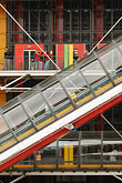 architecture stock photography | France, Paris, Pompidou Center, escalator, image id 6-450-649