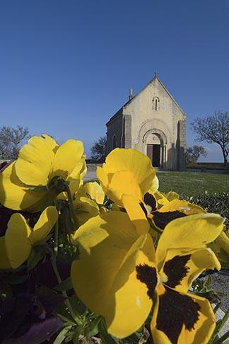 image 6-450-6542 France, Normandy, St Vaast La Hougue, Chapel, candles
