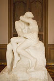 vertical stock photography | France, Paris, Rodin Museum, The Kiss, image id 6-450-6691