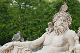 pigeon stock photography | France, Paris, Jardin des Tuileries, Sculpture, Le Tibre, by Pierre Bourdict, 1690, image id 6-450-683
