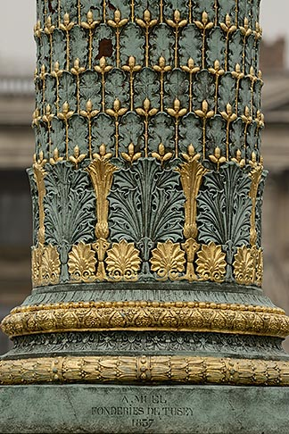 image 6-450-702 France, Paris, Jardin des Tuileries, Ornamental Lamp post