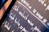 restaurant sign stock photography | France, Paris, Menu, image id 6-450-803