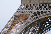 engineering stock photography | France, Paris, Eiffel Tower, detail at night, image id 6-450-813