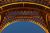blue stock photography | France, Paris, Eiffel Tower at night, image id 6-450-835