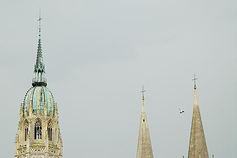 image 6-450-860 France, Normandy, Bayeux, Bayeux Cathedral spires