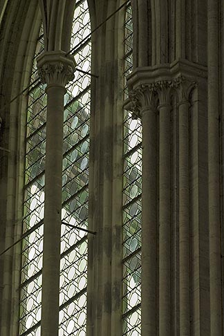 image 6-450-901 France, Normandy, Bayeux, Bayeux Cathedral, windows