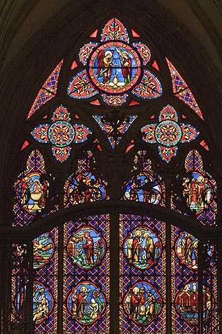 image 6-450-965 France, Normandy, Bayeux, Bayeux Cathedral, stained glass