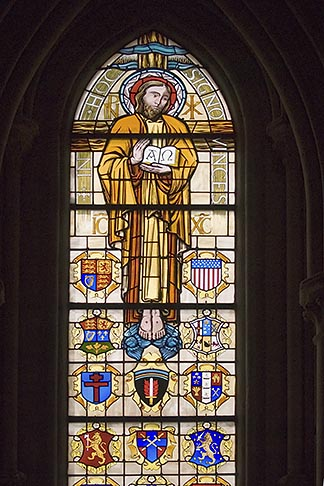 image 6-450-973 France, Normandy, Bayeux, Bayeux Cathedral, stained glass
