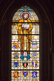 glass stock photography | France, Normandy, Bayeux, Bayeux Cathedral, stained glass, image id 6-450-973