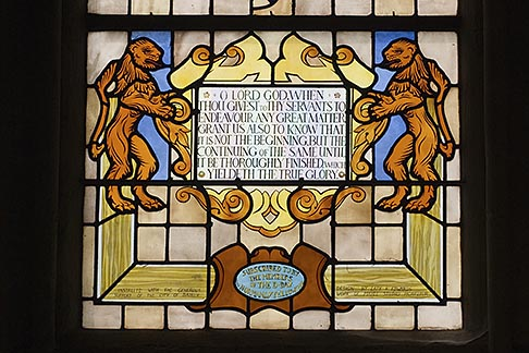 image 6-450-977 France, Normandy, Bayeux, Bayeux Cathedral, stained glass