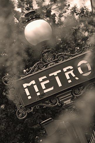 image 6-450-9771 France, Paris, Metro sign