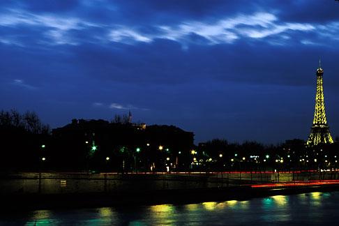 image S1-35-10 France, Paris, Seine and Tour Eiffel