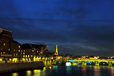 night scene stock photography | France, Paris, Seine and Tour Eiffel, image id S1-35-9
