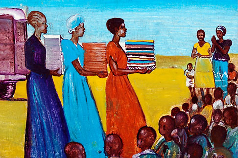 image 4-979-7654 Malawi, The Gaia Organization, AIDS education painting
