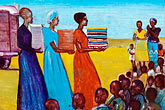 person of color stock photography | Malawi, The Gaia Organization, AIDS education painting, image id 4-979-7654