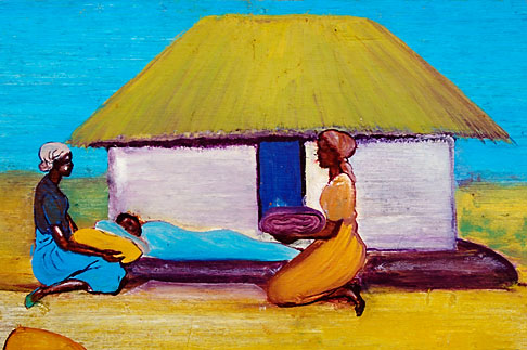 image 4-979-7655 Malawi, The Gaia Organization, AIDS education painting