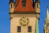 town hall clock stock photography | Germany, Munich, Altes Rathaus (Old Town Hall), 1470, image id 3-920-61