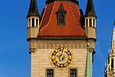 town hall clock stock photography | Germany, Munich, Altes Rathaus (Old Town Hall), 1470, image id 3-920-70