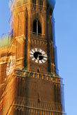 out of focus stock photography | Germany, Munich, Frauenkirche tower, image id 3-920-86