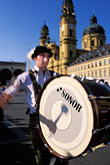 percussion stock photography | Germany, Munich, Oktoberfest, Parade of Folklore Groups, image id 3-950-69
