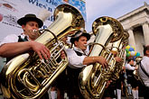 small group of men stock photography | Germany, Munich, Oktoberfest, Band concert, image id 3-951-37