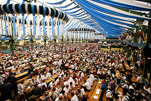 image 3-951-99 Germany, Munich, Oktoberfest, Beer hall