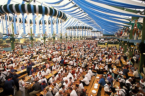 image 3-952-2 Germany, Munich, Oktoberfest, Beer hall
