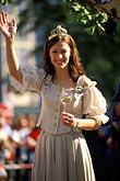 one woman only stock photography | Germany, Munich, Oktoberfest, Parade of Festival Hosts and Breweries, image id 3-952-24