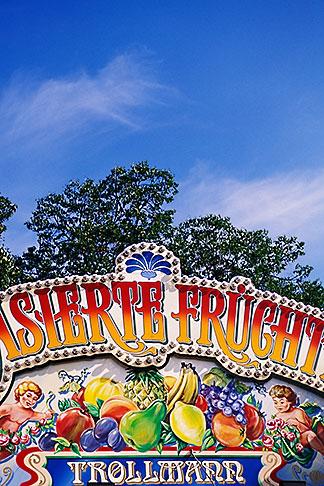 image 3-952-954 Germany, Munich, Oktoberfest, Fruit candy stand