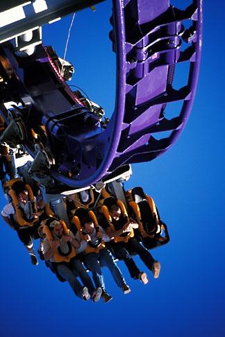 image 3-953-1 Germany, Munich, Oktoberfest, Rollercoaster