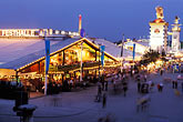 crowd stock photography | Germany, Munich, Oktoberfest, Fairgrounds at night, image id 3-953-34