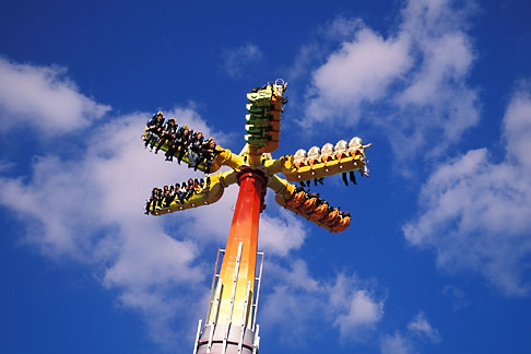 image 3-953-63 Germany, Munich, Oktoberfest, High Energy roundabout carnival ride
