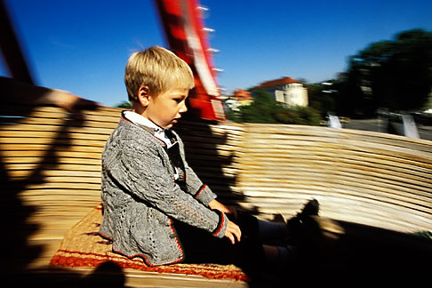 image 3-954-21 Germany, Munich, Oktoberfest, Toboggan carnival ride