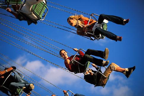 image 3-954-5 Germany, Munich, Oktoberfest, Wellenflug carnival ride
