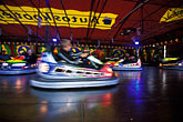 motion stock photography | Germany, Munich, Oktoberfest, Autoskooter bumper cars carnival ride, image id 3-954-59