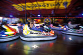 motion stock photography | Germany, Munich, Oktoberfest, Autoskooter bumper cars carnival ride, image id 3-954-62