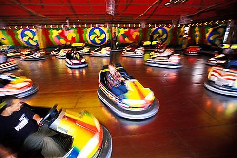 image 3-954-65 Germany, Munich, Oktoberfest, Autoskooter bumper cars carnival ride
