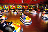 motion stock photography | Germany, Munich, Oktoberfest, Autoskooter bumper cars carnival ride, image id 3-954-65