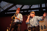 two people stock photography | Germany, Munich, Oktoberfest, Blechblosn, a Bavarian Band, image id 3-955-63