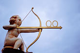 center stock photography | Art, Cupid with a bow and arrow, image id 3-955-67