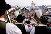 small group of men stock photography | Germany, Munich, Oktoberfest, Band concert, image id 3-956-57