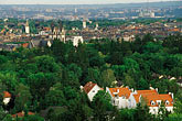 high angle view stock photography | Germany, Wiesbaden, View overlooking city from Neroberg, image id 5-240-6