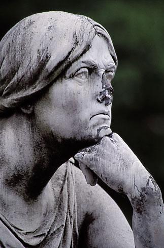 image 5-248-15 Germany, Wiesbaden, Figure of Tragedia , Schiller monument