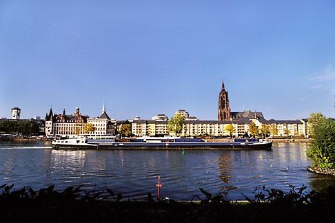 image 5-527-24 Germany, Frankfurt, Barge on River Main