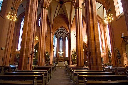 image 8-710-43 German, Frankfurt, Dom, Cathedral of St Bartholomew, interior