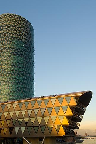 image 8-710-76 German, Frankfurt, Westhafen office complex
