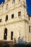 vertical stock photography | India, Goa, S� Cathedral and Church of St. Cajetan, Old Goa, image id 0-600-8